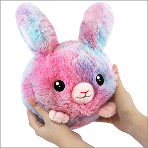 mini squishable cotton candy bunny an adorable fuzzy plush to