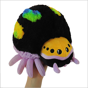 Mini Squishable Rainbow Jumping Spider An Adorable Fuzzy Plush To