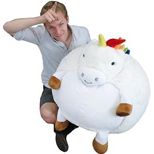 Squishable Com Massive Rainbow Unicorn Bean Bag