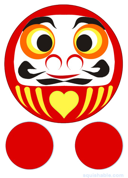Squishable Daruma