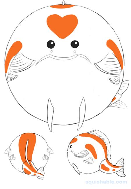 Squishable koi an adorable fuzzy plush to for Koi fish plush
