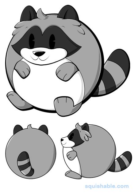 how to draw a cartoon raccoon