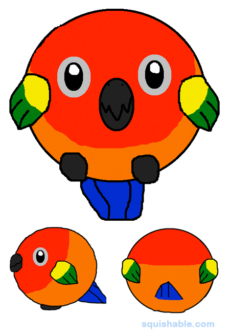 Squishable Com Squishable Sun Conure Bird An Adorable Fuzzy Plush